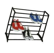 Sunbeam 12-Pair Shoe Rack, Black