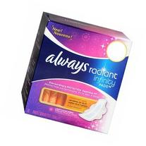 Always, Radiant Infinity Pads with Flexi-wings, Fresh Scent