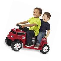 Radio Flyer Battery-Operated Fire Truck for 2 with Lights