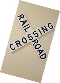 Rail Road Crossing Crossbuck Train Railroad Aluminum Sign