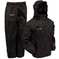 Frogg Toggs All Sport Rain Suit, Black Jacket/Black Pants,