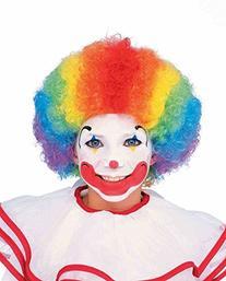 Forum Child Clown Wig, Rainbow