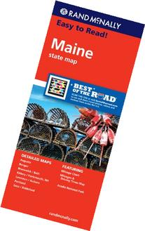 Rand McNally Easy To Read: Maine State Map