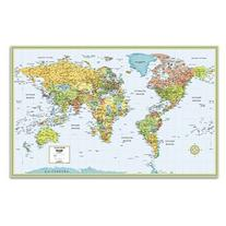 "World Wall Map Deluxe Laminated 50"" x 32"