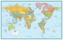 Rand McNally World Folded Wall Map