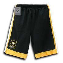 Rapiddominance Army Star Basketball Shorts, Black, Large