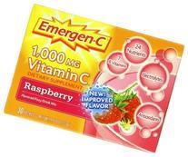 Emergen-C, Raspberry, 30 Count 1000mg