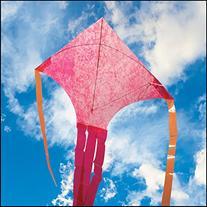 Raspberry Mylar Dart Kite
