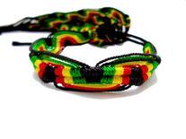 2 Pcs Rasta Friendship Bracelets New Band Tie-on Reggae