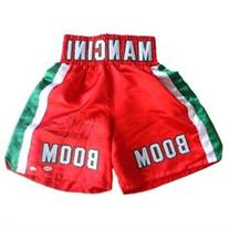 Ray Boom Boom Mancini Signed Red Boxing Trunks JSA ITP