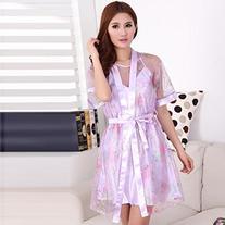 Weixinbuy Womens Rayon Silk Sexy Lingerie Dress Robes