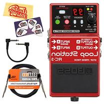 Boss RC-3 Loop Station Guitar Effects Pedal Bundle with