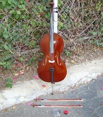 RUGERI RC100 3/4 SIZE CELLO WITH CARRYING BAG + 2 BOWS + 2
