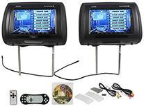 """Rockville RDP931-BK New 9"""" Black Car DVD/USB/HDMI Headrest"""