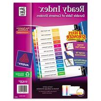 Avery Ready Index Table of Contents Dividers,  12-Tab,