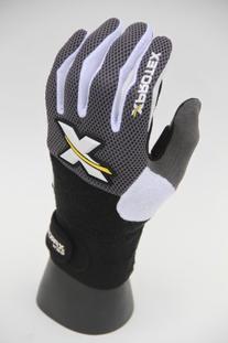 Xprotex Men's Reaktr Black/Black Batting Glove, Right Hand,