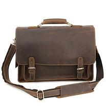 """Kattee Real Leather Shoulder Briefcase, 15.6"""" Laptop Tote"""