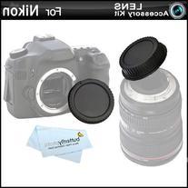 Rear Lens Cap and Camera Body Cover Cap for NIKON DSLR