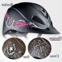 Troxel Rebel Helmet, Turquoise Rose, Medium