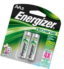 Energizer Rechargeable AA Batteries, NiMH, 2000 mAh, Pre-