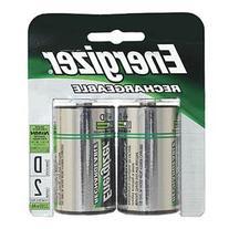 Energizer NH50BP2 NiMH Rechargeable Batteries, D, 2