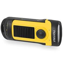 Ivation Solar & Hand Crank Rechargeable Flashlight, 3 LED