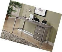Monarch Reclaimed-Look/Silver Metal Office Desk, 60-Inch,