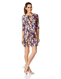 French Connection Women's Record Ripple Drape Printed Dress