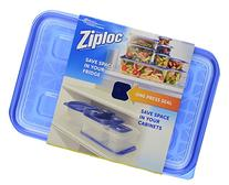 Ziploc Large Rectangle Containers with Lids, 76 Ounces, 2