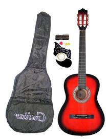 "38"" RED Acoustic Guitar Starter Package, Guitar, Gig Bag,"