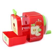 Domire Red Apple Penci Sharpener Hand Crank Manual Animal