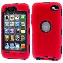 TOOGOO Red Deluxe Hybrid Premium Rugged Hard Soft Case Skin