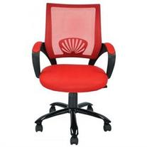 Ergonomic Mesh Midback Office Chair w/ Metal Base - Red