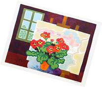 Red Flowers with Painting