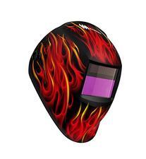 Weldmark® Red Ghost Flame Welding Helmet No. RF8VS9-13