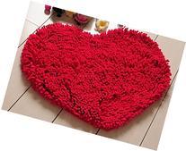 Red Heart Love microfiber chenille Soft Fluffy Rug Bathroom