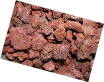 "Fire Pit Essentials 10-pound 3/4"" Medium Red Lava Rock for"