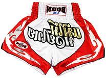 Boon Red & White Muay Thai Shorts-Medium