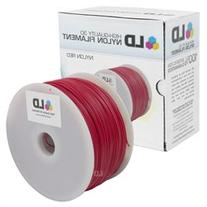 LD Red 1.75mm 1kg Nylon Filament for 3D Printers