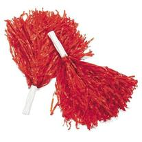 Fun Express Red Cheerleading Pom Poms - 12 Pieces