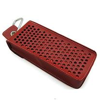 co2CREA Red PU Leather Carry Travel Case Bag Carrying