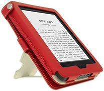 iGadgitz Premium Red PU Leather Case Cover for New Amazon