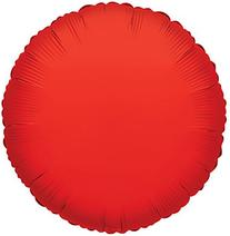 """Kaleidoscope Red Round Foil Mylar Balloon, 18"""", Pack of 5"""