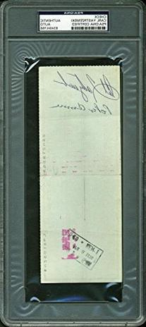 Red Sox Carl Yastrzemski Authentic Signed 1976 Red Sox Check