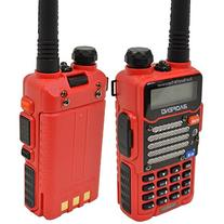 Baofeng Red UV-5R V2+  Dual-Band 136-174/400-480 MHz FM Ham