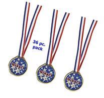 """Red White and Blue """"Winner"""" Laser Medals  bulk pack"""