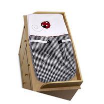 Red and White Ladybug Polka Dot Baby Girls Changing Pad