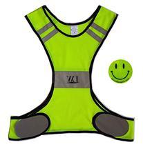 LW Reflective Biking Vest Running Cycling Walking Yellow