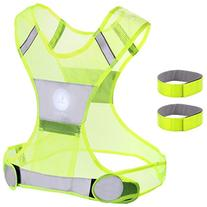 Reflective Vest for Running or Cycling Including Two 3M