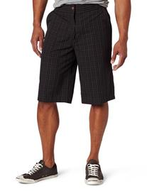 Dickies Men's 13 Inch Plaid Short, Charcoal, 34